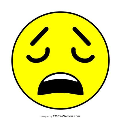 Weary Face Emoji Vector Download