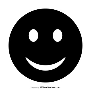 Black Smiley Emoji