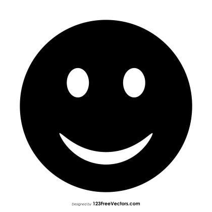 Black Smiley Emoji