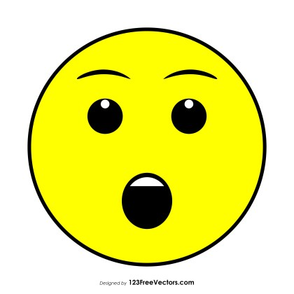 Face with Open Mouth Emoji Vector Download