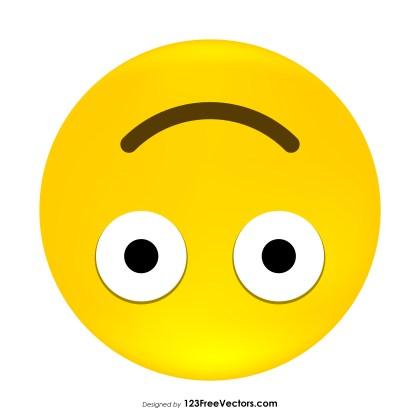 Upside-Down Face Emoji Clipart