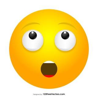 Hushed Face Emoji Clipart