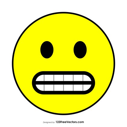 Flat Grimacing Face Emoji