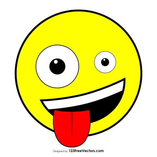 Grinning Face with One Large and One Small Eye Clipart