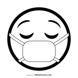 Face with Medical Mask Emoji Outline