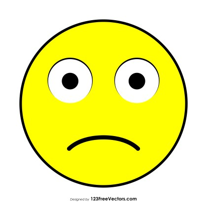 Slightly Frowning Face Emoji Vector