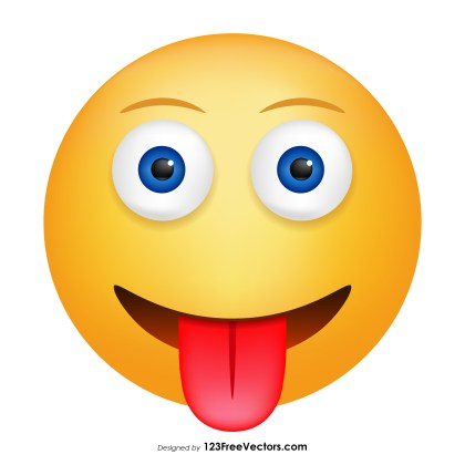 Face with Tongue Emoji Clipart