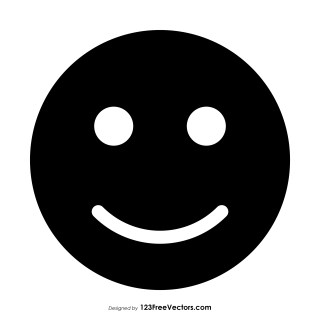 Black Slightly Smiling Face Emoji