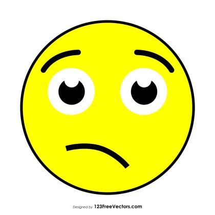 Confused Face Emoji Clipart