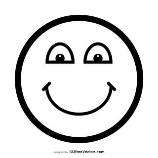 Happy Emoji Image Outline