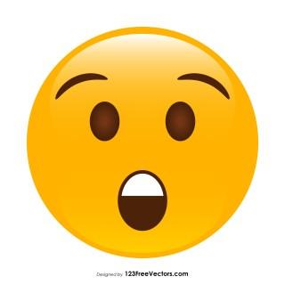 Astonished Face Emoji Vector Download