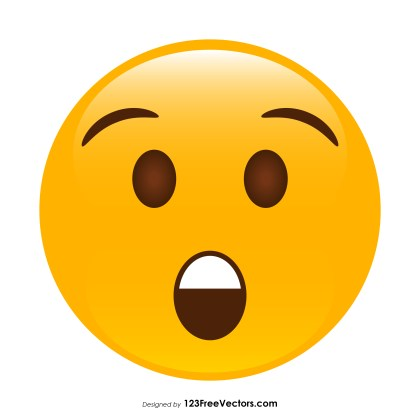 Astonished Face Emoji Vector Download