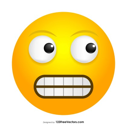 Grimacing Face Emoji Vector Free