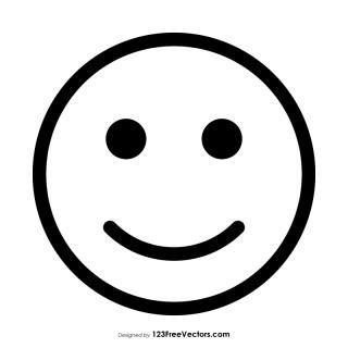 Slightly Happy Face Emoji Outline