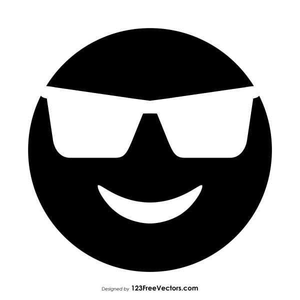 0a8a2f6aafc Black Smiling Face with Sunglasses Emoji