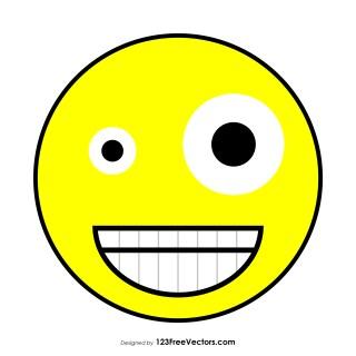 Zany Face Emoji Vector