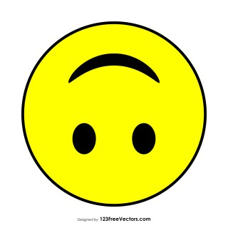 Upside-Down Face Emoji Vector Download