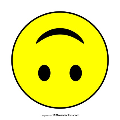Upside-Down Face Emoji Vector Download