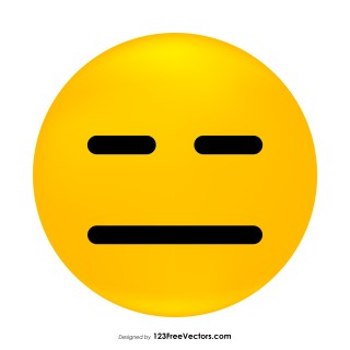 Expressionless Face Emoji Vector