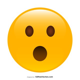 Face with Open Mouth Emoji Graphics