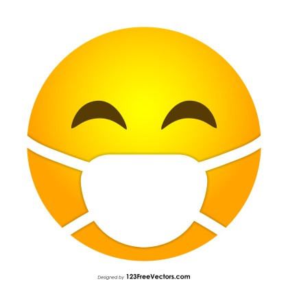 Face with Medical Mask Emoji Vector Free