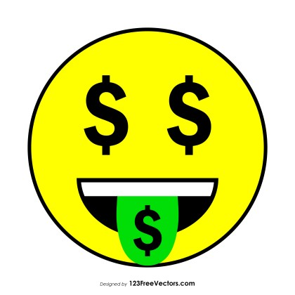 Money-Mouth Face Emoji Clipart