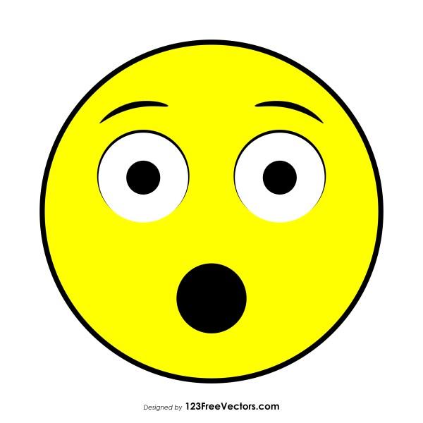 Hushed Face Emoji Vector