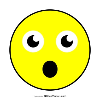 Face with Open Mouth Emoji Vector