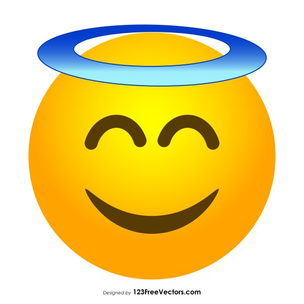 Smiling Face with Halo Emoji Vector