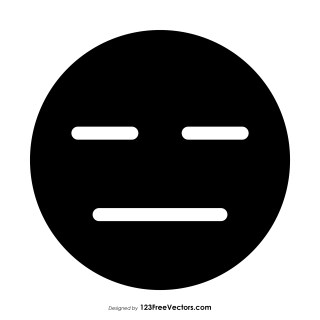 Black Expressionless Face Emoji