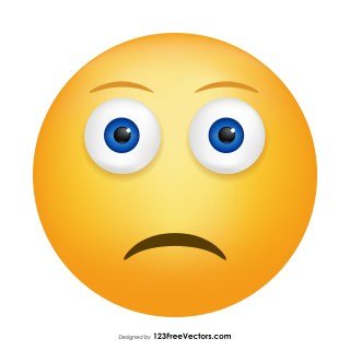 Slightly Frowning Face Emoji Vector Free