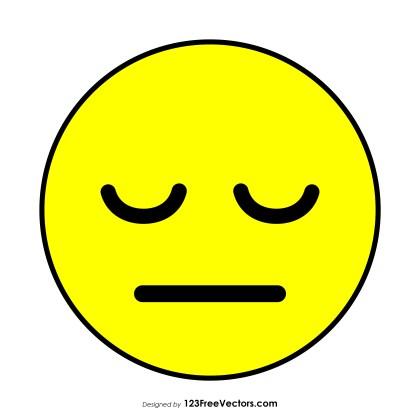Pensive Face Emoji Vector Download
