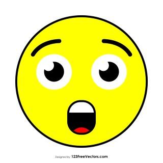 Astonished Face Emoji Graphics
