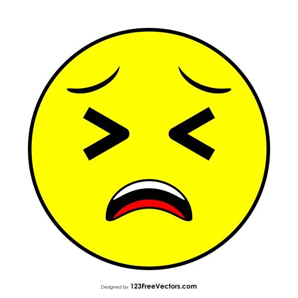 Tired Face Emoji Clipart