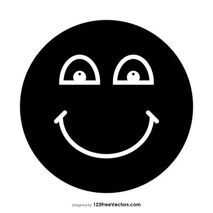 Black Happy Face Emoji