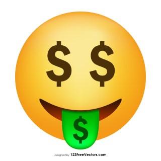 Money-Mouth Face Emoji Vector