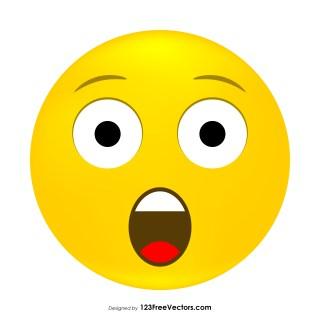 Astonished Face Emoji Clipart