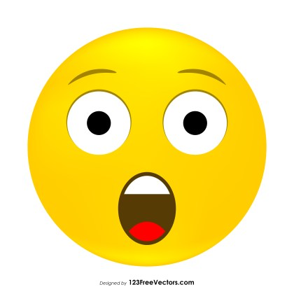 Astonished Face Emoji Clipart