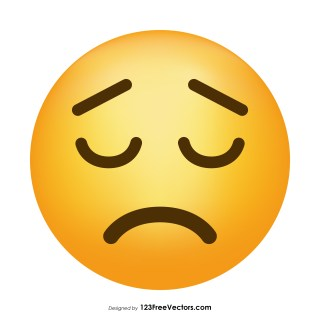 Sad Face Emoji Vector