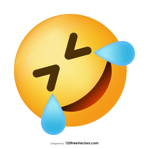 Rolling on The Floor Laughing Emoji Vector Free