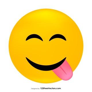 Face Savoring Food Emoji Clipart