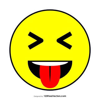 Face with Stuck-Out Tongue and Tightly-Closed Eyes Emoji Clipart