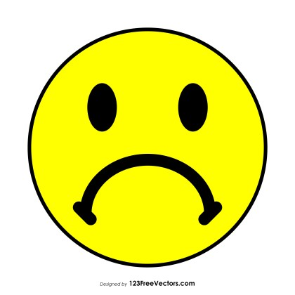 Frowning Face Emoji Vector