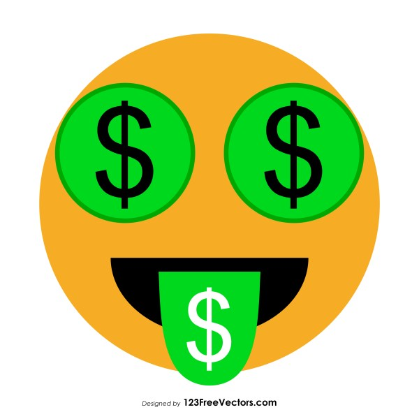 Money-Mouth Face Emoji Vector Free