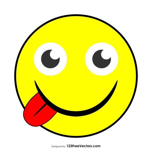 Face Savoring Food Emoji Vector Free