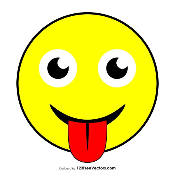Face with Stuck-Out Tongue Emoji Vector Download