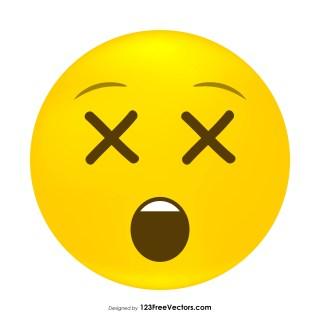 Dizzy Face Emoji Vector