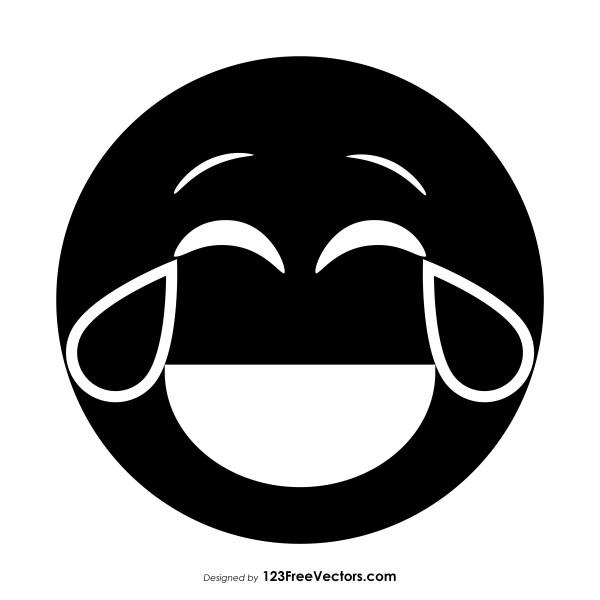Black Face with Tears of Joy Emoji