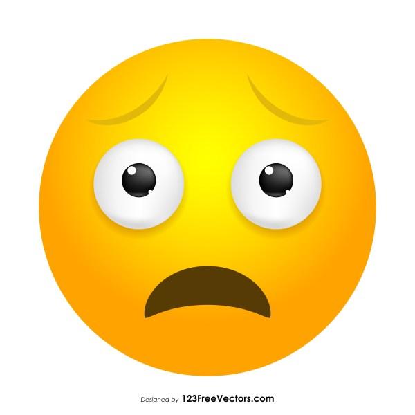 Worried Face Emoji Clipart
