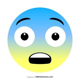 Fearful Face Emoji Vector Free